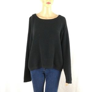 Banana republic cropped knit sweater large black